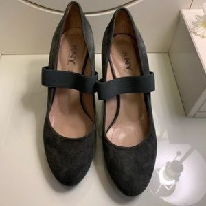 DKNY Gray Suede Pumps Shoes